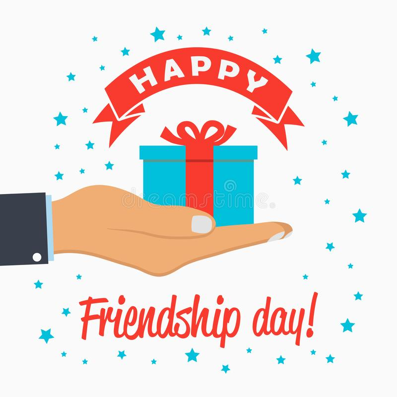 Happy Friendship Day - Template For Greeting Card, Logo, Poster