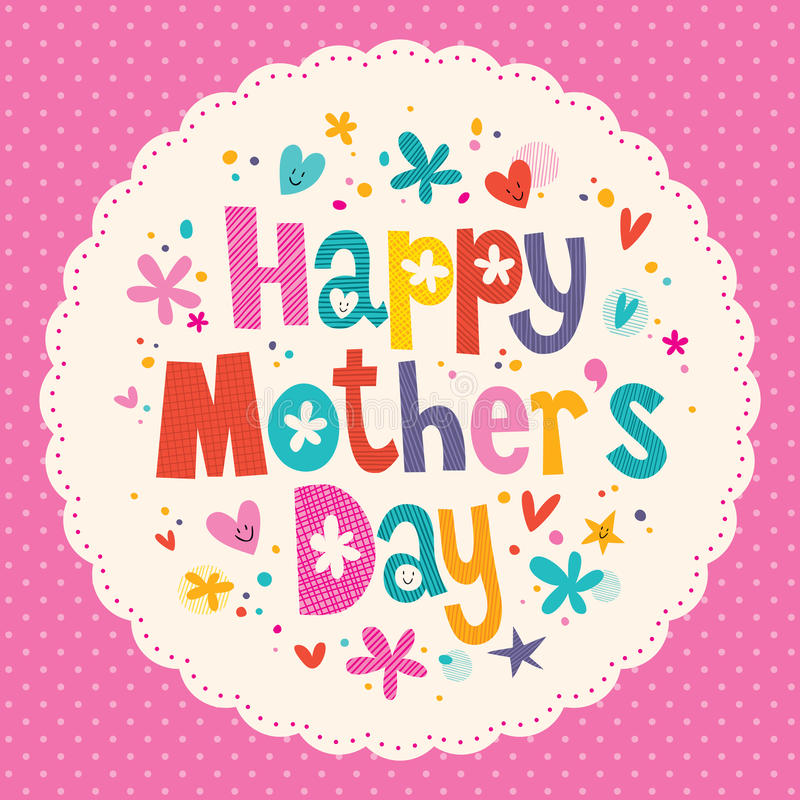 Happy Mother\u0027s Day card stock vector Illustration of copy - 44159137 - mothers day card template