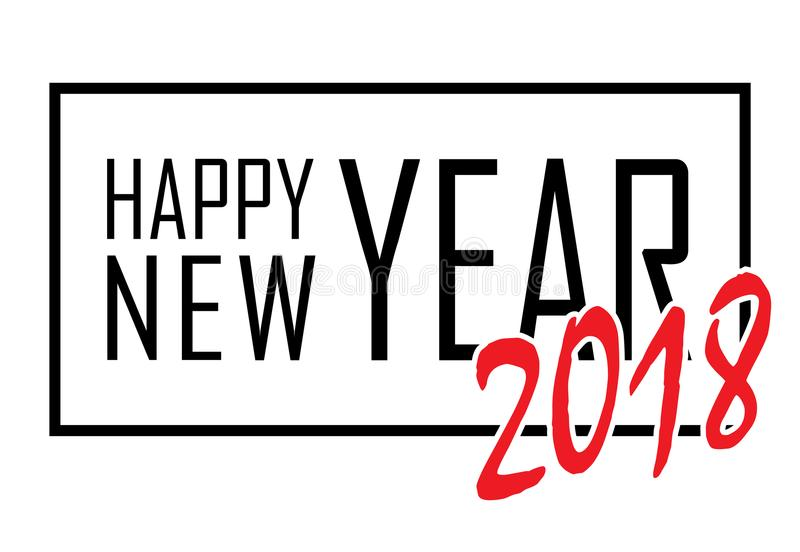 Happy New Year Text In Frame Black Border And Font Happy New Year - black border background