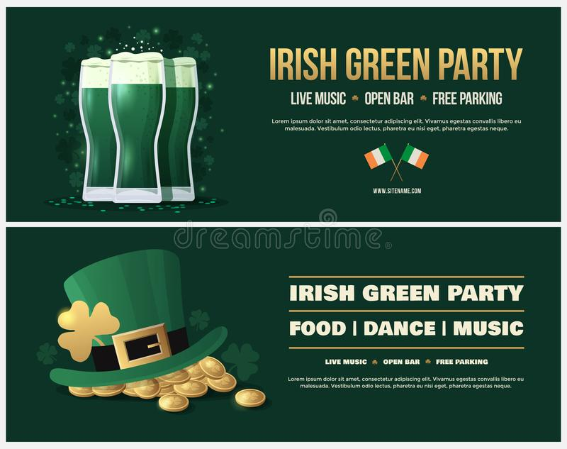 Happy Saint Patricks Day Poster, Flyer For Parties And Holidays