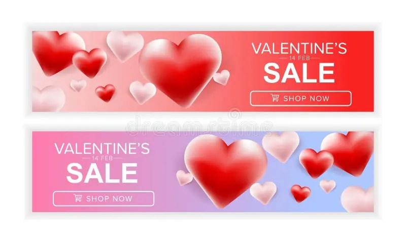 Happy Valentine\u0027s Day Card Set Of Valentine\u0027s Day Sale Banner