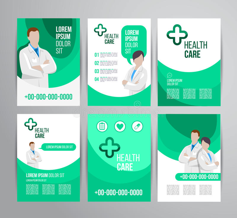 Healthcare brochure stock vector Illustration of hospital - 54851411