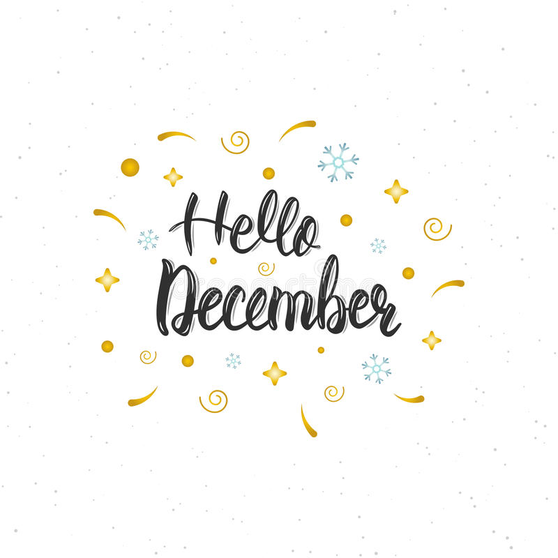Trendy Quote Wallpapers For Computor Hello December Hand Written Modern Brush Lettering
