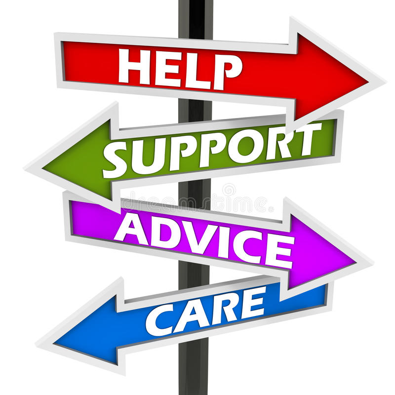 Help support advice care stock illustration Illustration of help - help and support