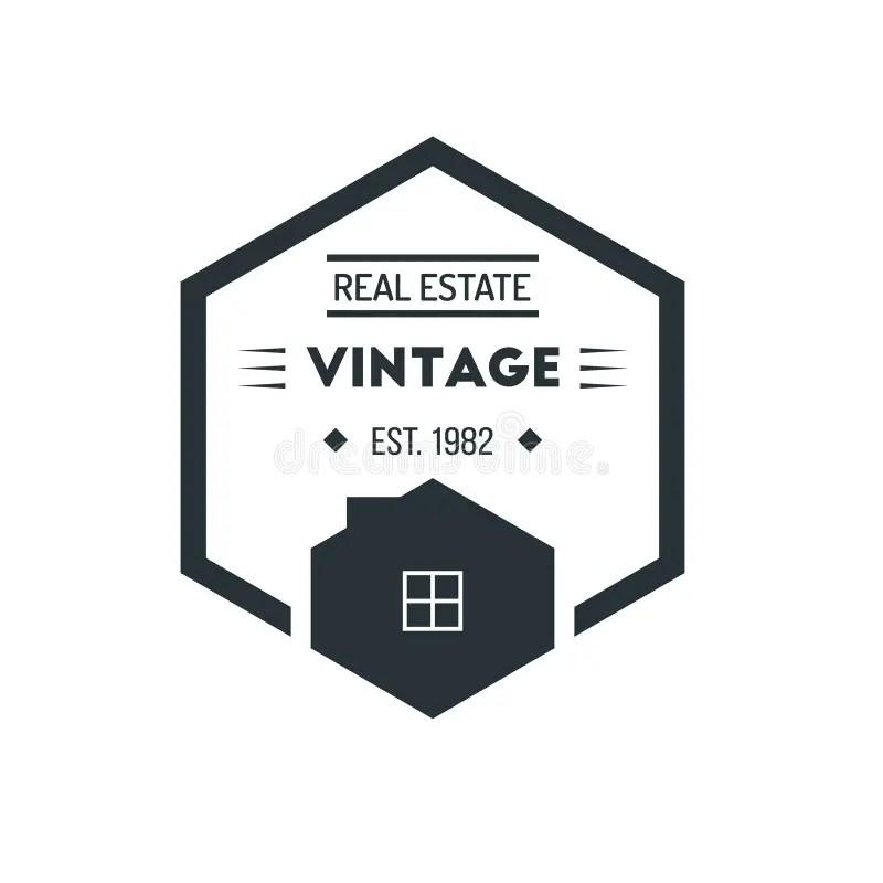 Hexagon Vintage Hipster Badge Logo Design Template Vector Symbol - hipster logo template