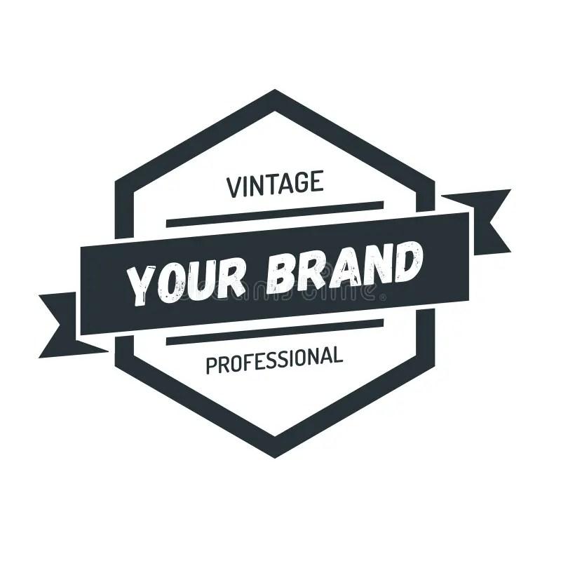 Hexagon Vintage Hipster Badge Logo Design Template Vector Symbol