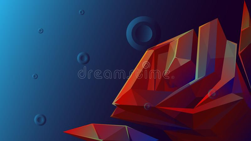 Rose Facet Abstract Background Stock Illustration - Illustration of