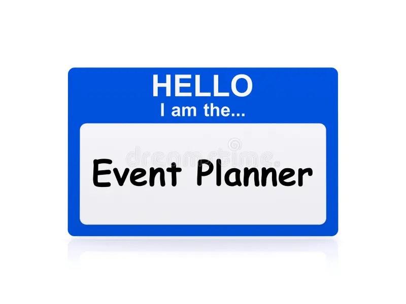 Hola Soy El Planificador De Eventos Stock de ilustración