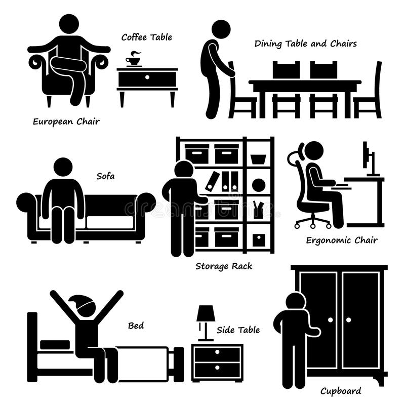Home House Furniture Cliparts Stock Vector - Auto Electrical Wiring on