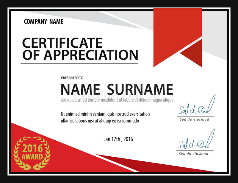 Horizontal Certificate Template,diploma,Letter Size ,vector Stock - certificate layout