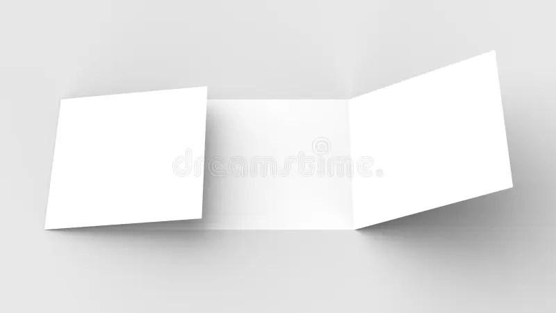 Horizontal - Landscape Gate Fold Brochure Mock Up On So Stock