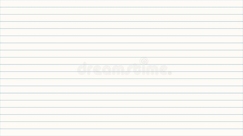 Horizontal Thin Lines Over White Background Stock Illustration - horizontal writing paper