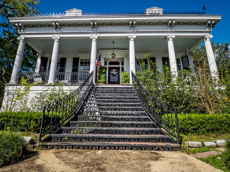 House With Iron Works Stairs In Uptown New Orleans USA Editorial