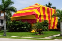 House Tented For Fumigation Stock Photo - Image of insect ...