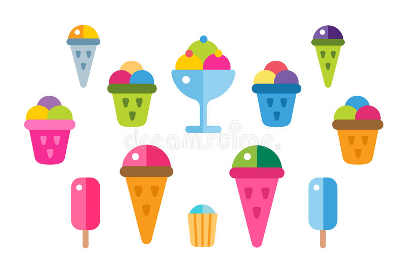 Ice cream vector icons set stock vector Illustration of refreshing