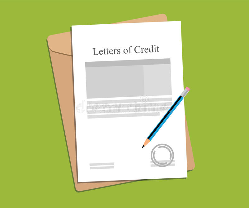Illustration For Letters Of Credit Agreement Stamped And Completed - credit agreement
