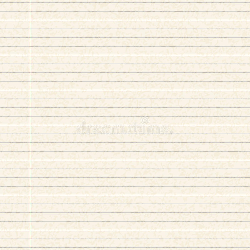 Illustration Of A Sheet Of Lined Paper Stock Vector - Illustration - lined paper print out