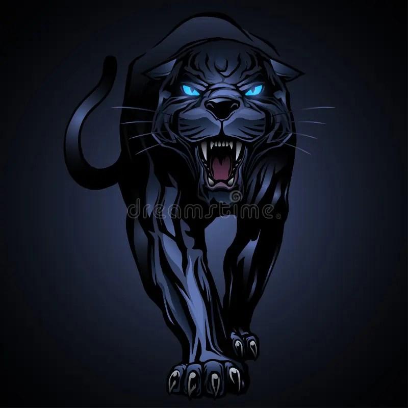 Black Cat Eyes Wallpaper Illustrazione Della Pantera Nera Illustrazione Vettoriale