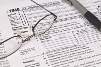 Income Tax Forms Royalty Free Stock Image - Image: 3807116