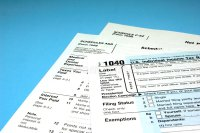 Income Tax Forms Royalty Free Stock Image - Image: 8239476