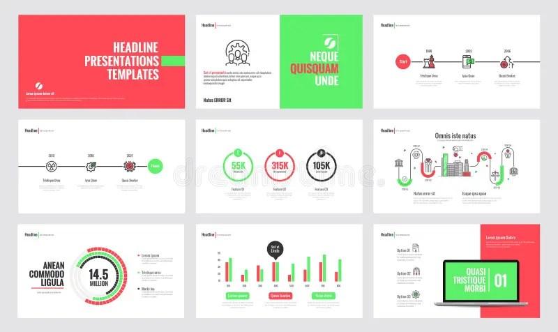 Infographics Slide Template Design 5 Stock Vector - Illustration of - Presentations Template