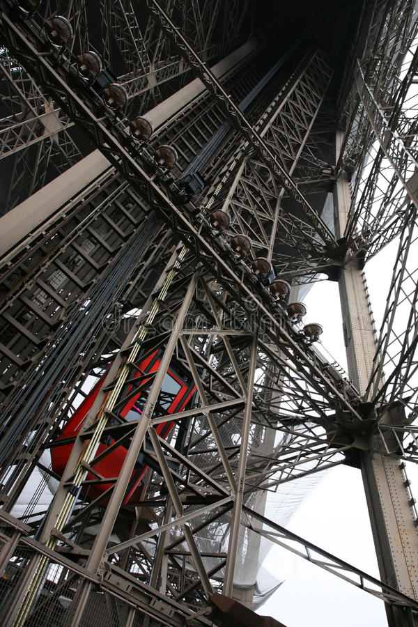 Interieur Less Is More Inside Eiffel Tower Stock Image - Image: 12659791