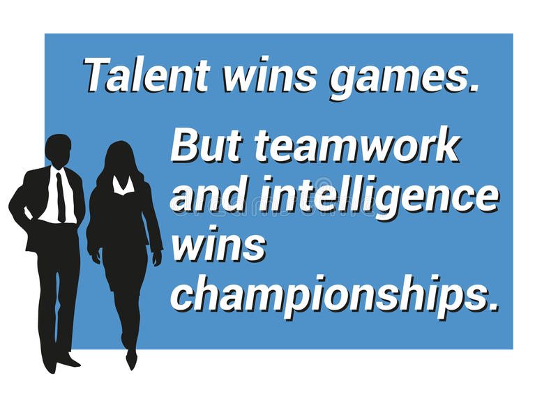 Inspirational Motivating Quote About Teamwork, Winning, Intelligence - quote on presentation