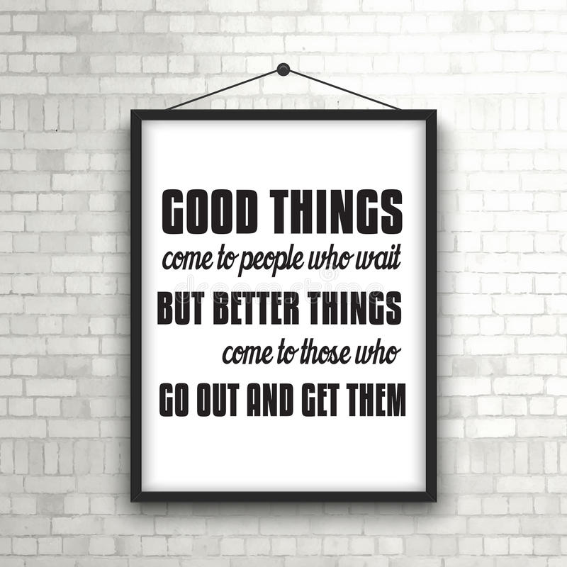 Comment Accrocher Un Tableau Lourd Inspirational Quote In Picture Frame On Brick Wall Stock