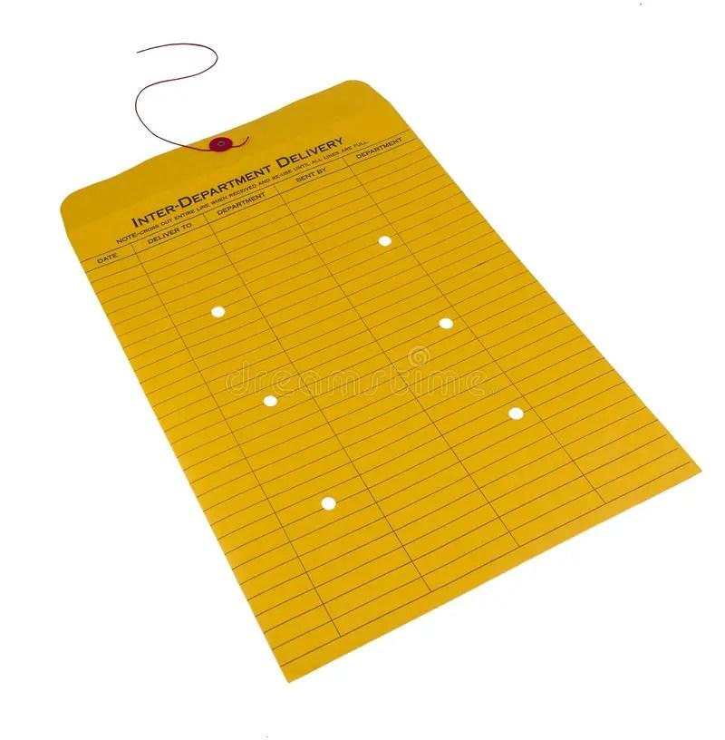 Inter-office Envelope Isolated Stock Image - Image of communication