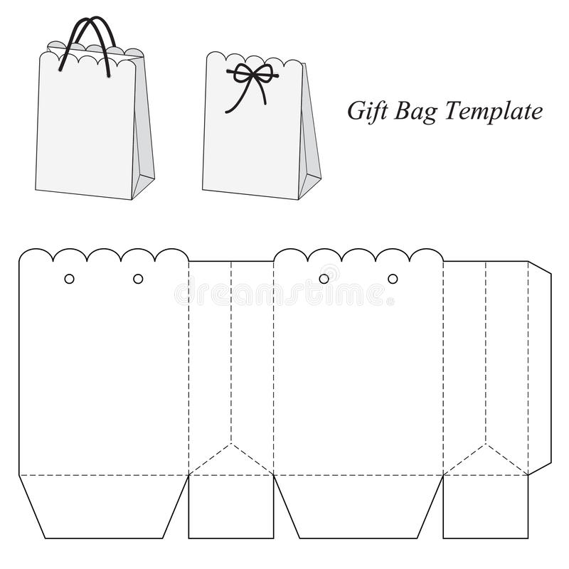 Interesting Gift Bag Template Stock Vector - Illustration of holiday