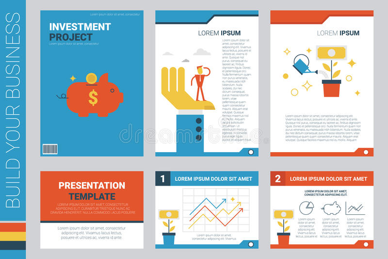 Investment Project Book Cover And Presentation Template Stock Vector - Presentation Project