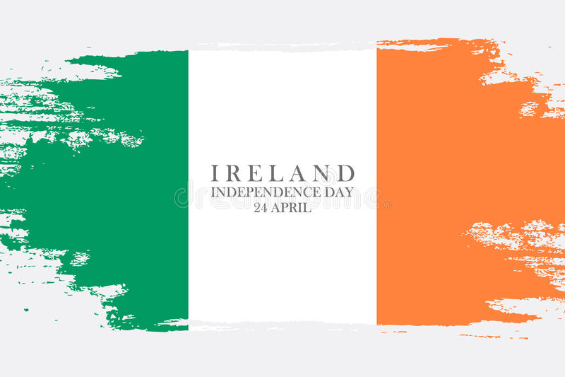 Ireland Independence Day, 24 April Greeting Card Brush Stroke