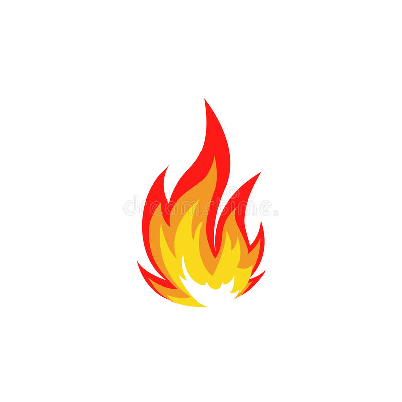 Isolated Abstract Red And Orange Color Fire Flame Logo On White - flame logo