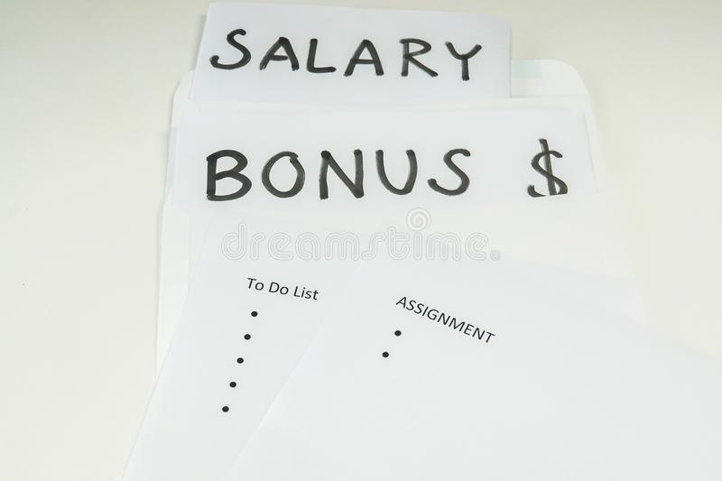 Isolated Bonus And Salary Evaluation Based On Assignment And Goal - goals employee performance evaluation