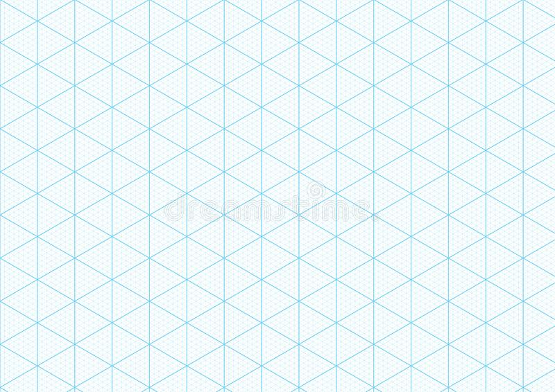 Isometric Graph Paper Background Plotting Triangular Vector Ruler