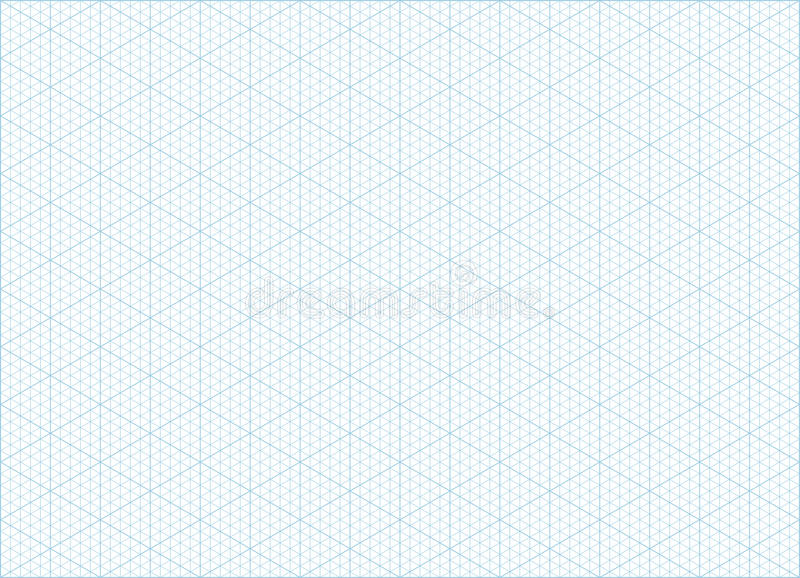 Isometric Grid Graph Paper Background Stock Vector - Illustration of