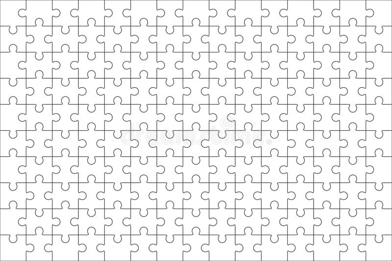 Jigsaw Puzzle Blank Template 150 Pieces Stock Illustration