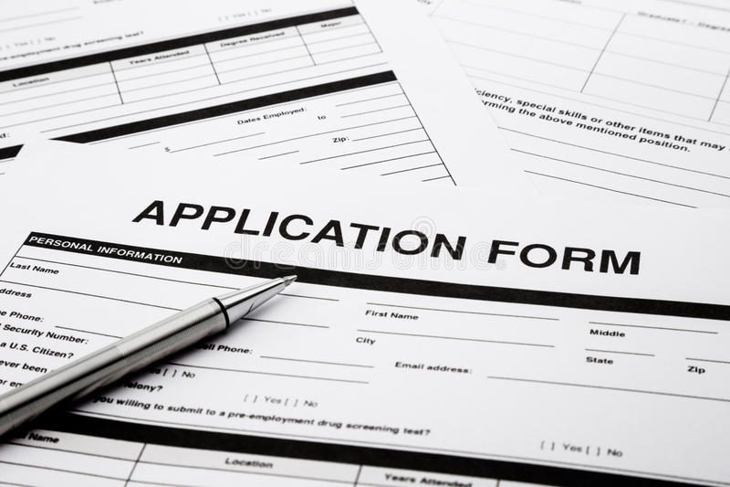 Job application form stock photo Image of recruitment - 31876196