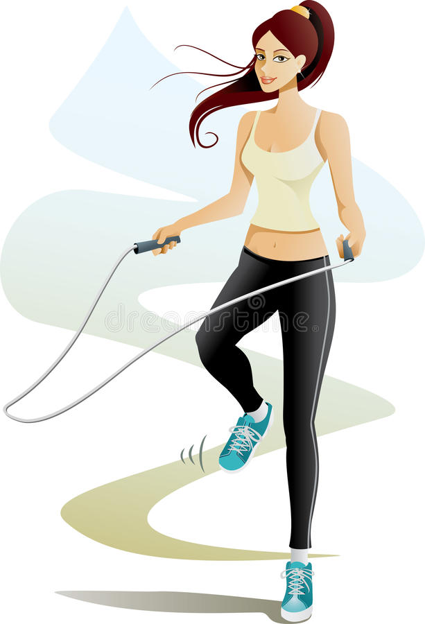 Adobe Stock Jump Jump Rope Stock Vector Illustration Of Jumping Beauty