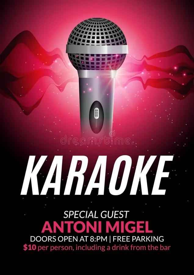 Karaoke Party Invitation Poster Design Template Karaoke Night Flyer