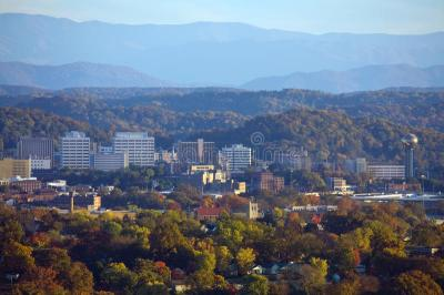 Knoxville Skyline With Smoky Mountains Stock Image - Image: 13400101