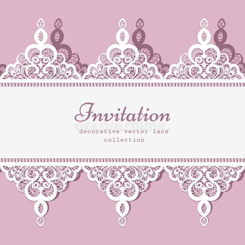 Lace border template stock vector Illustration of frame - 53590309