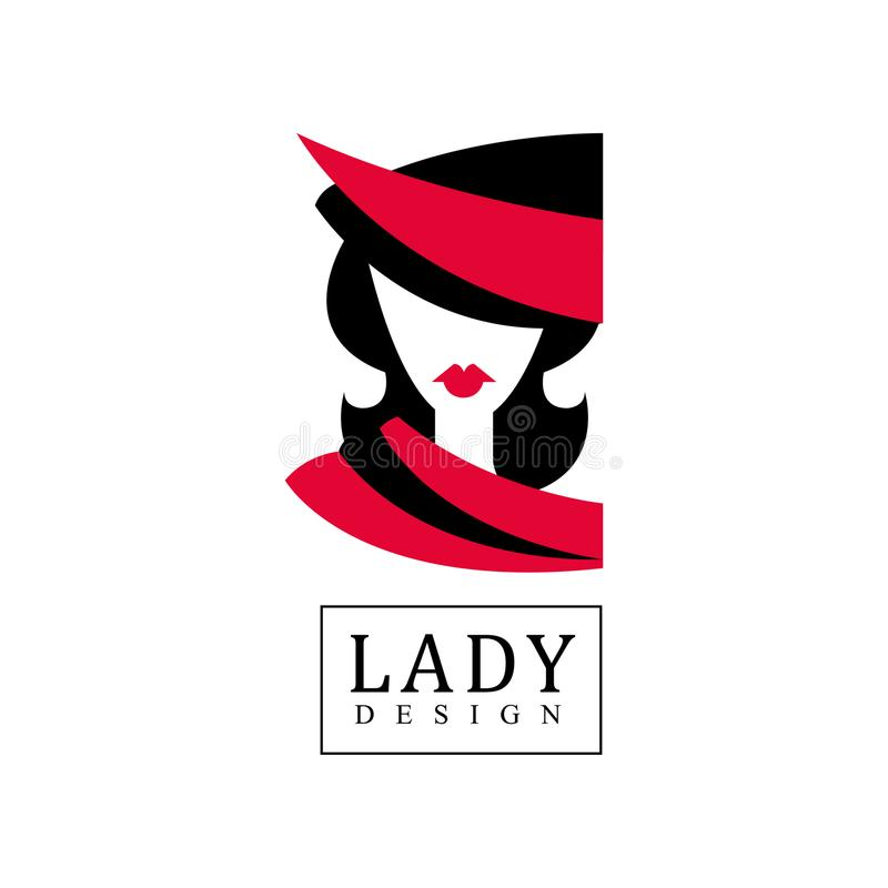 Lady Design Logo, Fashion, Beauty Salon, Studio Or Boutique Emblem - fashion poster design