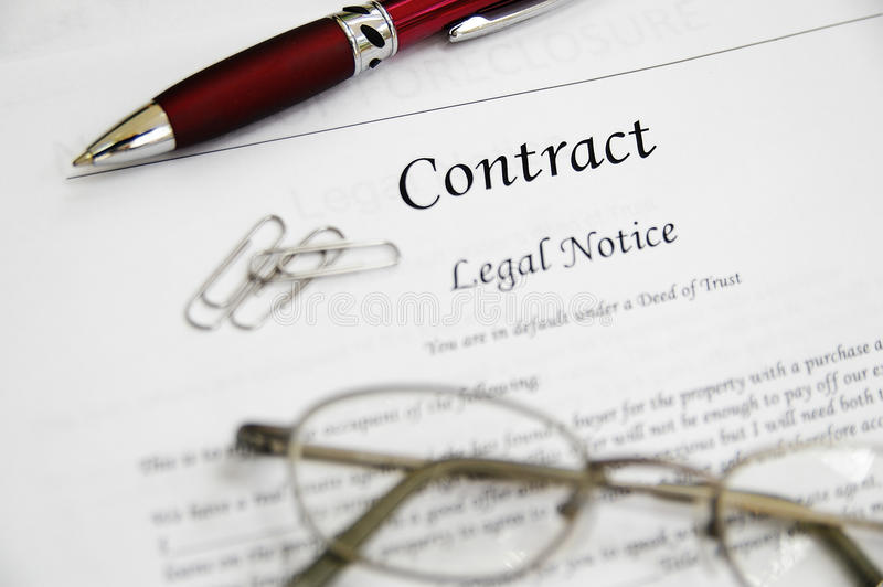Legal contract stock image Image of sign, settlement - 15842709