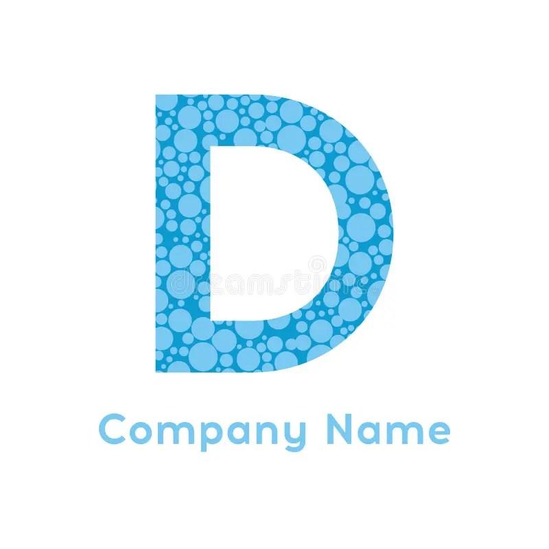 Letter D Bubbles Vector Blue Bubble Design Vector Illustration