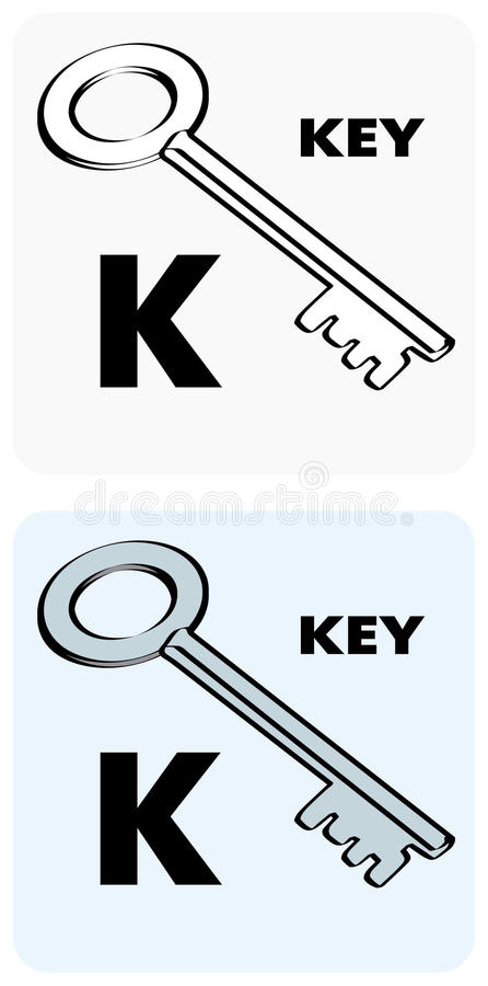 Letter K Alphabet Flashcards Stock Vector - Illustration of helpful