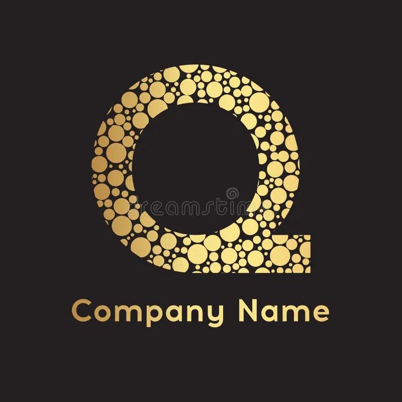 Letter Q Bubbles Vector Gold Bubble Design Vector Illustration