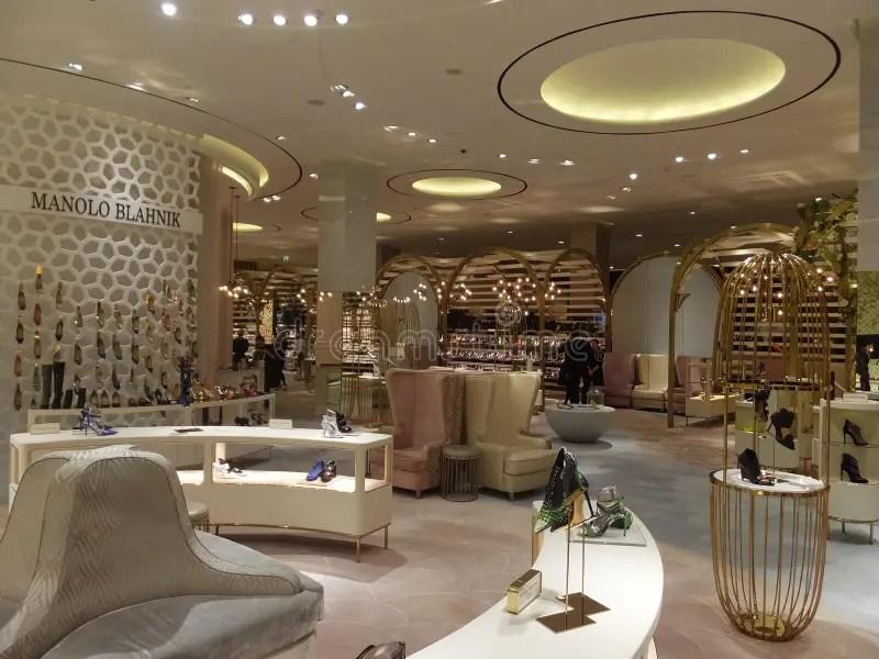 Level Shoe District At Dubai Mall In Dubai Uae Editorial