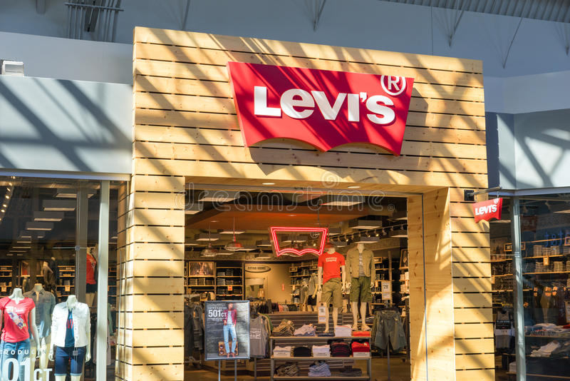 Levis Shop Levis Retail Store Sign Editorial Stock Photo. Image Of ...