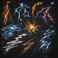 Lightning Bolt Storm Strike Realistic 3d Light Thunder ...